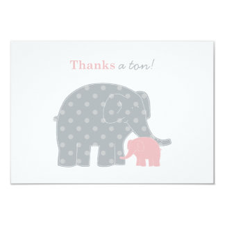 """El elefante le agradece las tarjetas de nota invitación 3.5"""" x 5"""""""