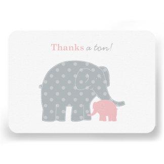 El elefante le agradece las tarjetas de nota plana comunicados personales