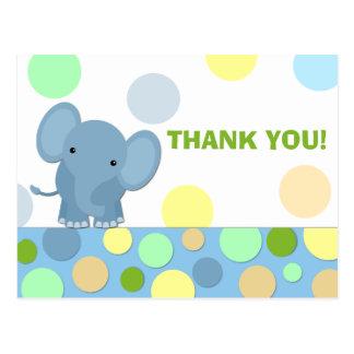 El elefante le agradece postal