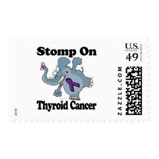 El elefante pisa fuerte en cáncer de tiroides estampillas