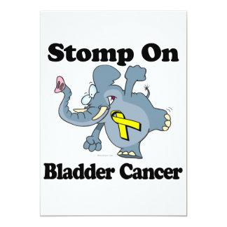 """El elefante pisa fuerte en cáncer de vejiga invitación 5"""" x 7"""""""