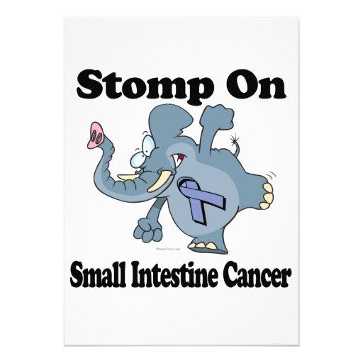 El elefante pisa fuerte en cáncer del intestino de invitacion personalizada