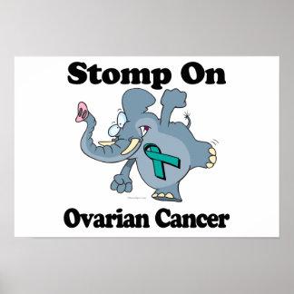 El elefante pisa fuerte en cáncer ovárico posters