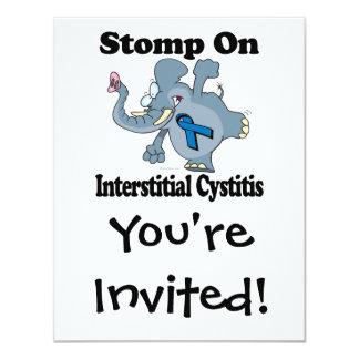 """El elefante pisa fuerte en cistitis intersticial invitación 4.25"""" x 5.5"""""""
