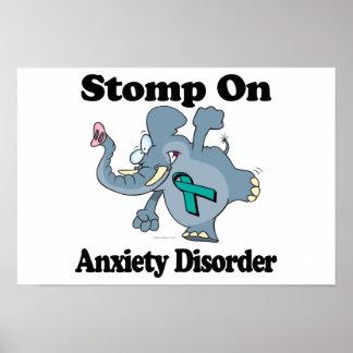 El elefante pisa fuerte en desorden de ansiedad impresiones