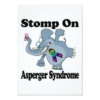 El elefante pisa fuerte en el síndrome de Asperger Invitación 12,7 X 17,8 Cm