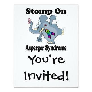 El elefante pisa fuerte en el síndrome de Asperger Invitación 10,8 X 13,9 Cm