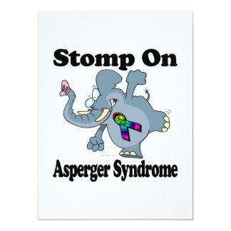 El elefante pisa fuerte en el síndrome de Asperger Invitación 16,5 X 22,2 Cm