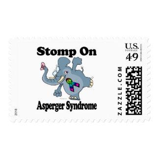 El elefante pisa fuerte en el síndrome de Asperger Sellos