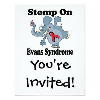 """El elefante pisa fuerte en el síndrome de Evans Invitación 4.25"""" X 5.5"""""""