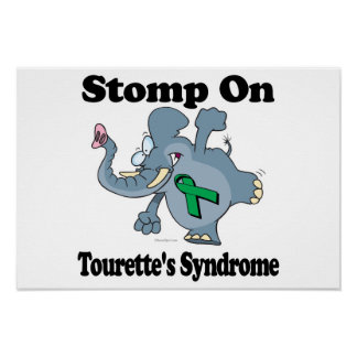 El elefante pisa fuerte en el síndrome de Tourette Posters