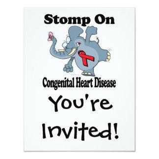 """El elefante pisa fuerte en enfermedad cardíaca invitación 4.25"""" x 5.5"""""""