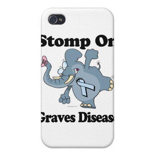 El elefante pisa fuerte en enfermedad de sepulcros iPhone 4 cárcasa