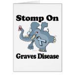 El elefante pisa fuerte en enfermedad de sepulcros tarjeta de felicitación