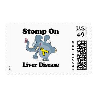 El elefante pisa fuerte en enfermedad del higado timbres postales