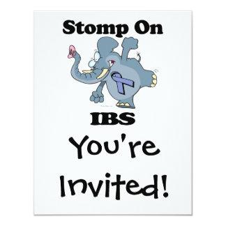 """El elefante pisa fuerte en IBS Invitación 4.25"""" X 5.5"""""""
