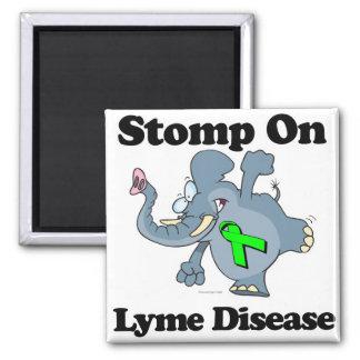 El elefante pisa fuerte en la enfermedad de Lyme Imán Cuadrado