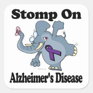 El elefante pisa fuerte en la enfermedad de pegatina cuadrada