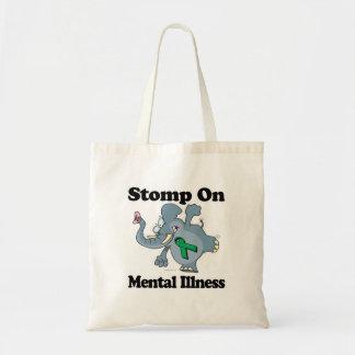 El elefante pisa fuerte en la enfermedad mental (e bolsas lienzo