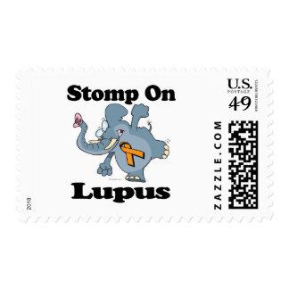 El elefante pisa fuerte en lupus estampilla