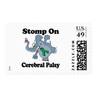 El elefante pisa fuerte en parálisis cerebral sellos