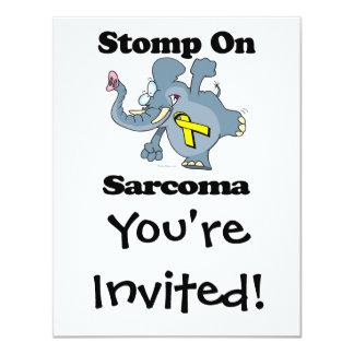 """El elefante pisa fuerte en sarcoma invitación 4.25"""" x 5.5"""""""
