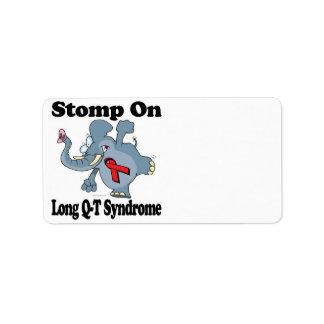 El elefante pisa fuerte en síndrome largo del cuar etiquetas de dirección