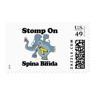 El elefante pisa fuerte en Spina bífido Sellos Postales