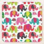 el elefante retro embroma el papel pintado del