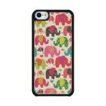 el elefante retro embroma el papel pintado del funda de iPhone 5C slim arce