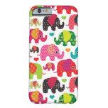 el elefante retro embroma el papel pintado del funda de iPhone 6 slim
