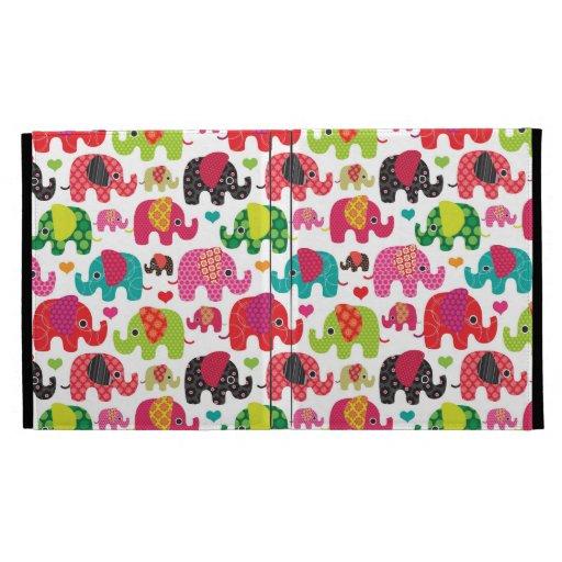 el elefante retro embroma el papel pintado del mod