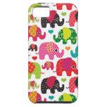 el elefante retro embroma el papel pintado del mod iPhone 5 carcasa