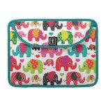 el elefante retro embroma el papel pintado del mod funda macbook pro