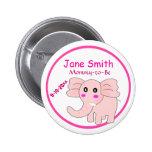 El elefante rosado adorable Mamá-a-Es fiesta de bi Pin