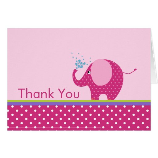 El elefante rosado le agradece tarjeta de nota