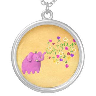 El elefante rosado lindo le agradece joyerias personalizadas