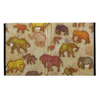 El elefante siluetea la pintura