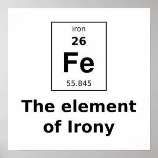 El elemento del poster de la ironía