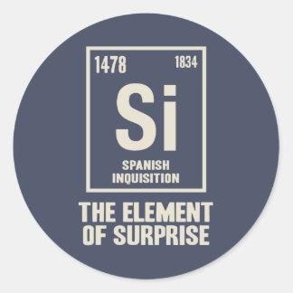 El elemento español pegatina redonda