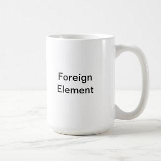El elemento extranjero comienza el proceso del cam taza básica blanca