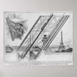 El elevador de Otis en la torre Eiffel Impresiones