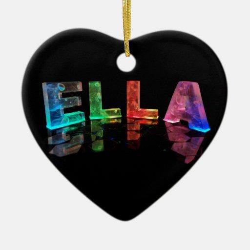 El Ella conocido en 3D se enciende (la fotografía) Adorno De Cerámica En Forma De Corazón