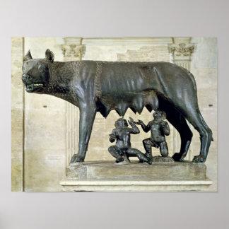 El Ella-Lobo de Capitoline Póster
