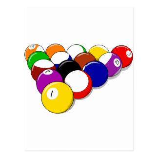 El Em del estante de las bolas de la sala de billa Tarjetas Postales