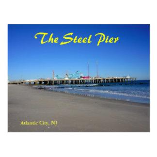 El embarcadero de acero en Atlantic City Tarjeta Postal