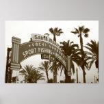El embarcadero de Santa Mónica - 30x20 Poster