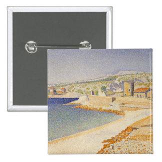El embarcadero en Cassis, opus 198 - Paul Signac Pin Cuadrado