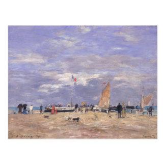 El embarcadero en Deauville, 1869 Tarjetas Postales
