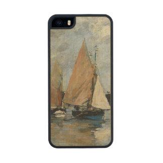 El embarcadero en la alta marea, Trouville Funda De Arce Carved® Para iPhone 5